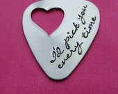 Personalized  Guitar Pick I'd pick you every time Hand Stamped with I'd Pick You Every Time Personalized Gift for Him Father's Day