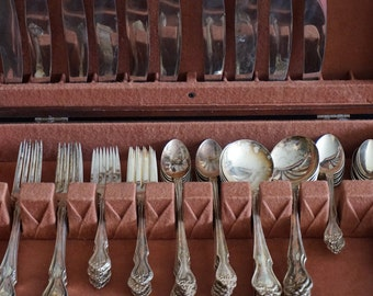 Vintage, Nickel Silver Flatware Set