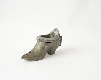 Vintage Pewter Mold, Pewter Ice Cream Mold, Vintage Chocolate Mold, Antique Victorian Shoe Mold, Ice Cream Eppelsheimer Mold 570