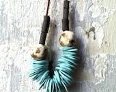 SALE! Statement Necklace - Turquoise Necklace, Turquoise Jewelry,  Ceramic Necklace, Wabi sabi, Porcelain Jewelry, Porcelain Necklace