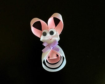 Easter bunny ribbon sculpture bow