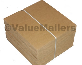 "100 - 7.5"" x 7.5"" Corrugated Filler Pads for 45 RPM Record Mailers"