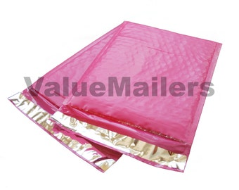 250 #0 Pink Poly Bubble Mailer Shipping Envelope Bags