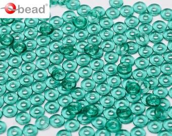 5gr O bead ® 1 x 4 mm, Czech Glass, Emerald (OB042)