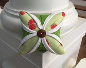 Cathedral Window Pincushion - Modern Pincushion - Pin Cushion - Hello Darling by Bonnie and Camille - Strawberry and Green