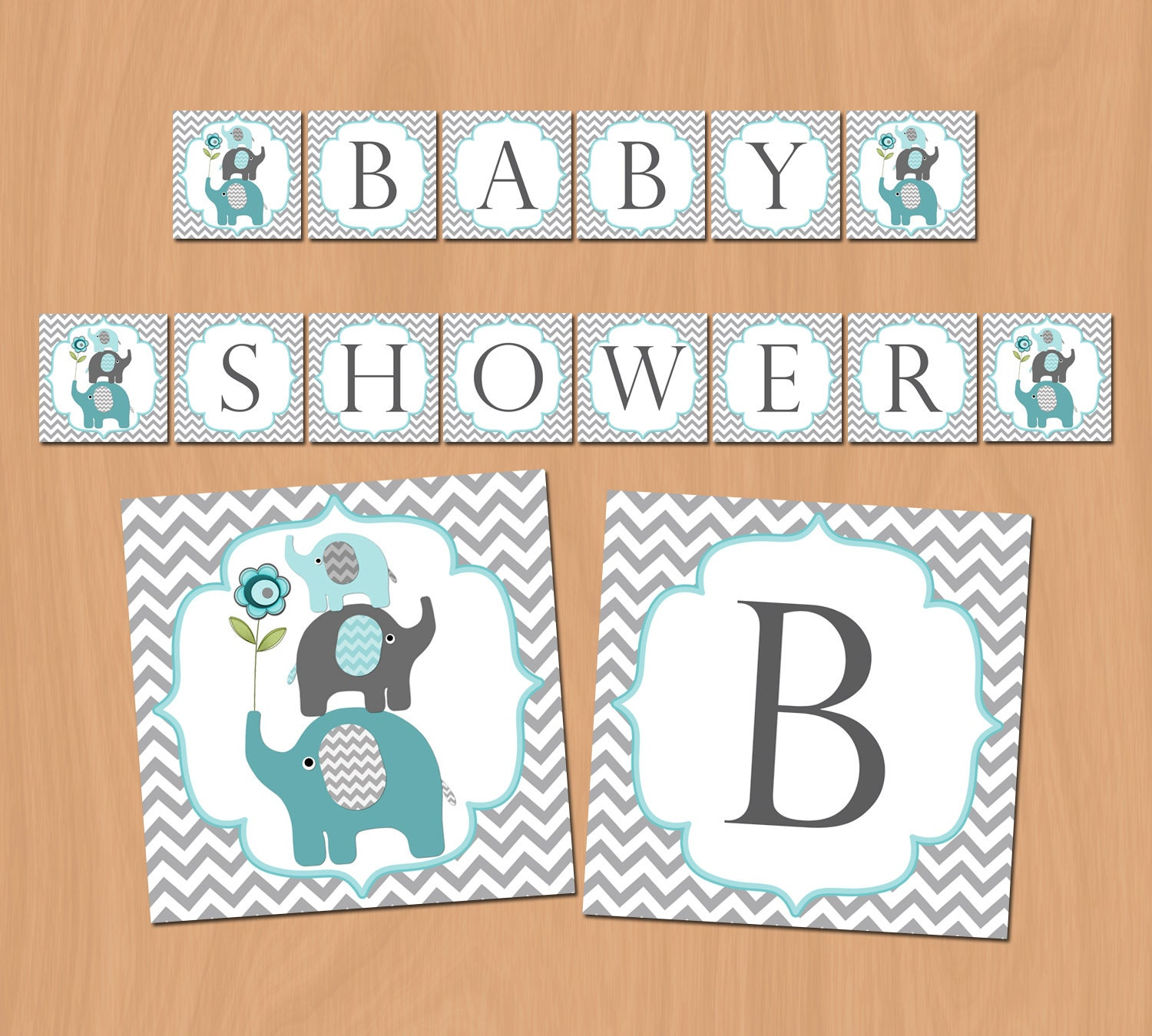 boy baby shower banner elephant baby shower decorations