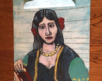 The Clipboard Madonna, Outsider Art Painting