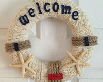 Nautical Welcome Wreath