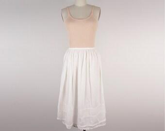 Vintage 1970s cotton petticoat size S niche