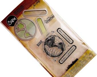 Tim Holtz Stamps Embossing Folder & Dies Set THE JOURNEY - 561221 Sizzix Die 1-cc02