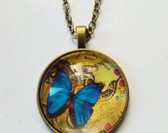 Steampunk picture pendant necklace