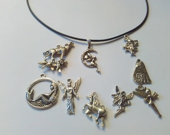 choker necklace charm angel unicorn mermaid