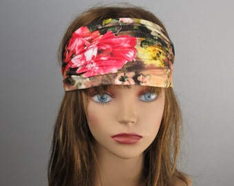 STORE CLOSING SALE Stretch Headband Woman Accessory Head Band Multicolor Flower Print Woman Headband