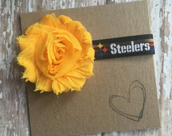 Steelers Headband, Steelers, PA, Baby headband, Newborn, Football, NFL, Pittsburg, Tomlin