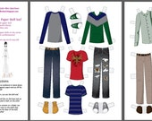 Paper Doll Wardrobe - Casual Male Clothing and Shoes