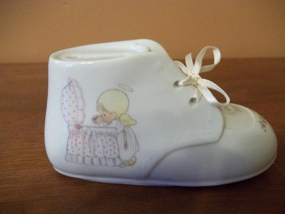 Precious Moments Baby Shoe Bank