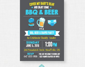 diaper party invitation  etsy, Party invitations