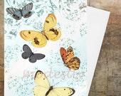 Greeting Card,birthday greetings,  Birthday Card ,Art card, Blank Card, Custom card ,anniversary card, Butterflies, ''The Life Within'