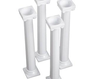 "Cake Pillars 7"" Grecian Style 4pcs"