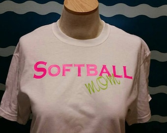 Softball Mom T-shirt - softball mom graphic tee - mom of a softball player t-shirt - support your softball player with a softball mom shirt