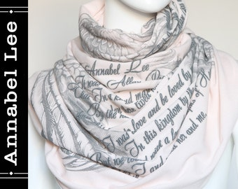 Annabel Lee Book Scarf Infinity