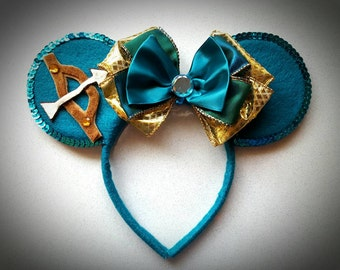 Merida inspired Minnie Mouse Ears