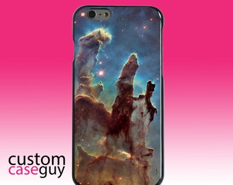 Hard Snap-On Case for Apple 5 5S SE 6 6S 7 Plus - CUSTOM Monogram - Any Colors - Pillars of Creation