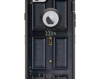 Custom OtterBox Defender Case for Apple iPhone 6 6S 7 8 PLUS X 10 - Personalized Monogram - 221b Baker Street