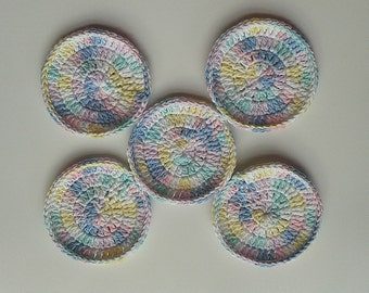Scubbies-Pastel-Set of 5-FREE SHIPPING