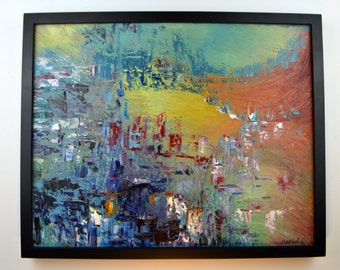 Levent Deparis Impressionist Abstract Painting 16x20