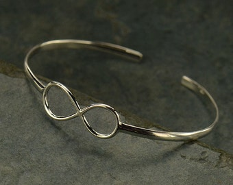Sterling Silver Infinity Bracelet -Love -Friendship -Stackable