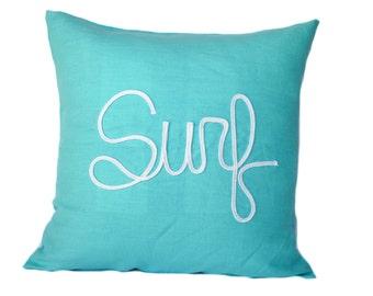 One nautical pillow cover, cushion, decorative throw pillow, decorative pillow, nautical decor, sail cover, Beach decor, Surf Pillow