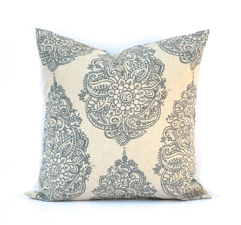 Decorative Pillows Indigo : Indigo Blue Pillow Throw Pillow Navy Pillow Home decor