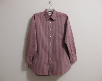 LANVIN PARIS 41 - 82 Men's Dress Shirt Excellent Condition M Medium