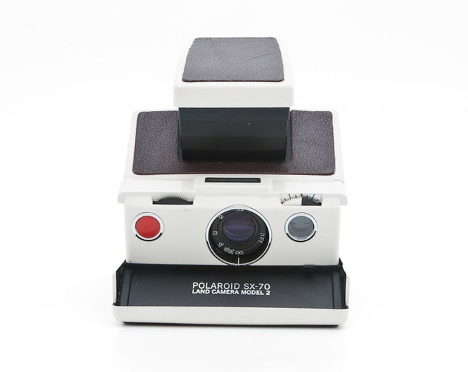 Featured listing image: Polaroid SX-70 Land Camera Model 2 with new Burgundy leather replacement - Tested - Guaranteed Working