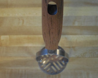 Vintage wood handled potato masher. kitchen decor