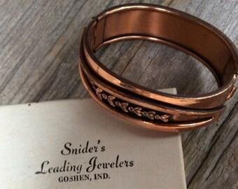 Renoir Copper Hinged Clamper Bracelet