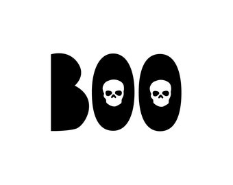 Boo Skulls Halloween Printable - 8x10 or 5x7
