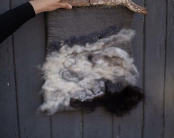wool felted wall hanging