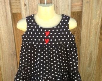 Black Polka Dot 3 Tier Dress