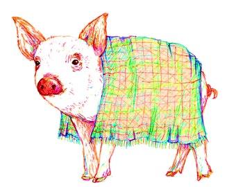 Pig In Blanket Card