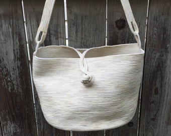 Handmade Cotton Tote especially for Knitters and Crocheters