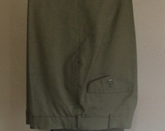 U.S. Marines Dress Pants, Size 32R, Green #2241, 55 Percent Polyester, 45 Percent Wool, Dry Clean Only