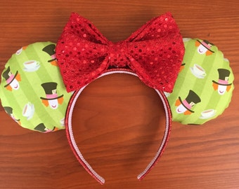 Mad Hatter Inspired Mickey Headband, Mickey Mouse Ears