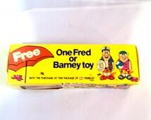 Vintage New In Box Flinstone Toy Barney - Post Cereal Premium