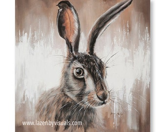 Hattie Hare - A beautiful animal painting by Bree Merryn - Open edition mounted giclee print