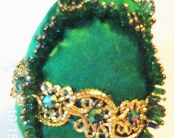 Original Hand Beaded Handmade Shatterproof Green Ornament Gift