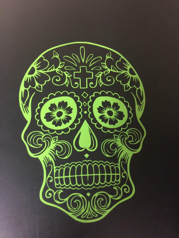 Sugar Skull Decal For Yeti Cup Tumbler Coffee Mug Wine - Sugar skull yeti cup