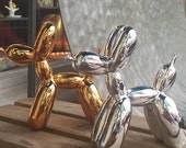 Jeff Koons Small Balloon dog Figure in Silver or rose gold