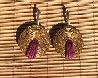 Golden Grass earrings